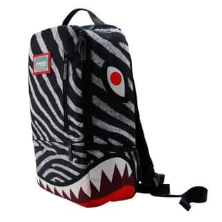 Zebra Shark Deluxe Laptop Backpack|https://ak1.ostkcdn.com/images/products/10585160/P17660088.jpg?impolicy=medium