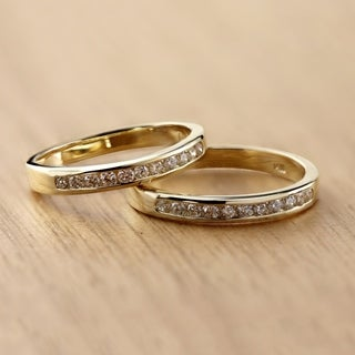 Auriya 14k Gold 1/4ct TDW Channel-Set Diamond Ring