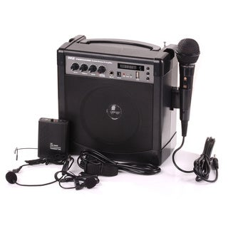 Pyle PWMA220BM Portable Bluetooth PA Speaker Microphone System with Built-in Rechargeable Battery