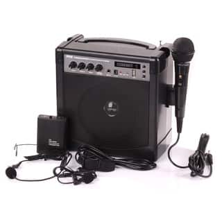 Pyle PWMA220BM Portable Bluetooth PA Speaker Microphone System with Built-in Rechargeable Battery|https://ak1.ostkcdn.com/images/products/10585206/P17659991.jpg?impolicy=medium