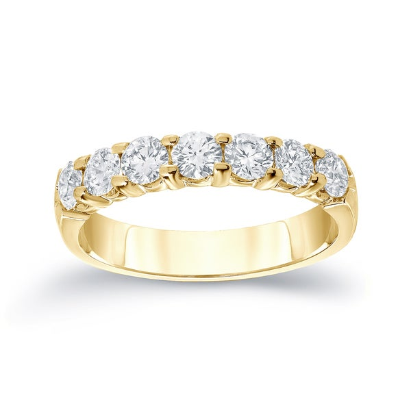 Auriya 14k Gold 1/2ct TDW Round Diamond Wedding Ring or Anniverdsary Band