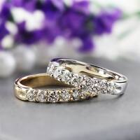 Auriya 14k Gold 1/2ct TDW Round 7-Stone Diamond Wedding Band