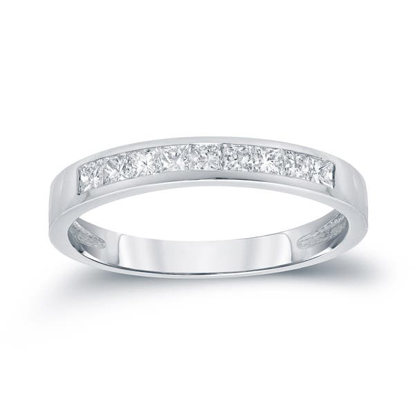 Shop Auriya 1 2ctw Princess Cut Diamond Wedding Band 14k Gold