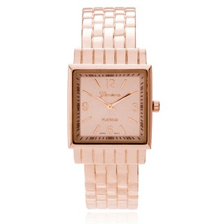 Geneva Platinum Women's Adjustable Cuff Square Watch