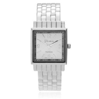 Geneva Platinum Women's Adjustable Cuff Square Watch