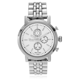 Geneva Platinum Women's Chronograph-style Link Watch
