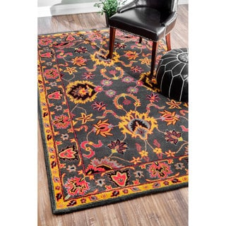 nuLOOM Handmade Overdyed Traditional Multi Wool Runner Rug (2'6 x 8')
