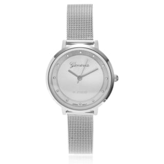 Geneva Platinum Women's Mini Metal Mesh Strap Watch