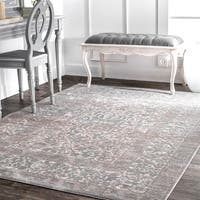 nuLOOM Traditional Vintage Persian Border Grey Rug - 5'3 x 7'7