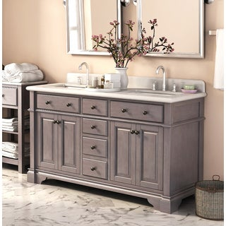 51 60 inches bathroom vanities vanity cabinets shop - 52 inch bathroom vanity double sink ...