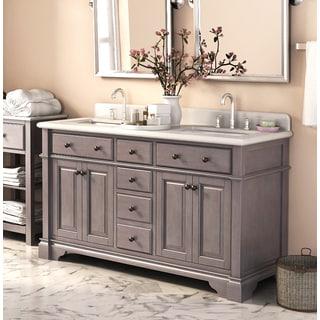double sink vanity. casanova 60-inch double sink vanity with backsplash i