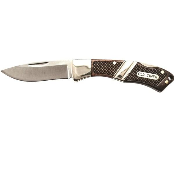 Old Timer Mountain Beaver Jr Lockback Folder-leather Sheath