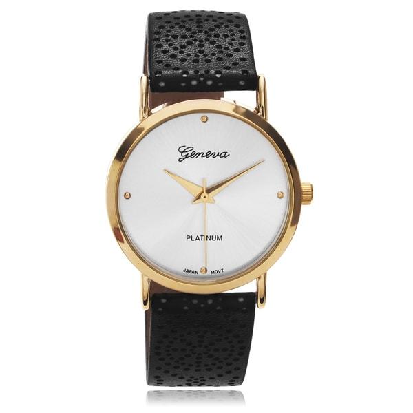da93b4eba1e ... Women s Watches. Geneva Platinum Women  x27 s Two-tone Pattern Leather  Strap Watch