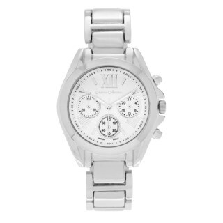 Journee Collection Women's Roman Numeral Dial Link Bracelet Watch