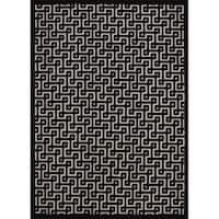 Rug Squared Montrose Ivory Black Accent Rug - 2'2 x 3'9