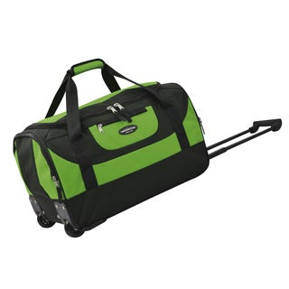 Traveler's Club Adventure 20-inch Multi-Pocket Sports Rolling Carry-on Duffel