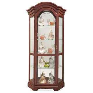 Philip Reinisch Co. Lighthouse Stafford Cherry Curio Cabinet