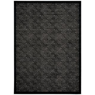 Rug Squared Montrose Ivory Black Rug (5'3 x 7'3)