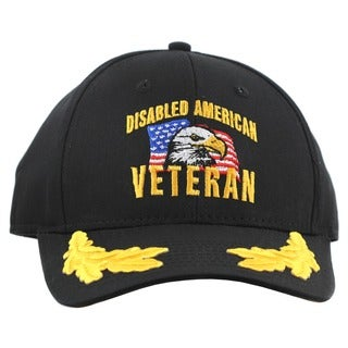 US Disabled American Veteran Hat with Scrambled Eggs Design