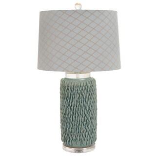 Aurora Handcrafted Ceramic Seafoam Table Lamp