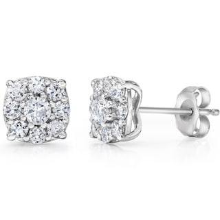 14k White Gold 1 TDW Diamond Composite Earrings (I-J, I2-I3)