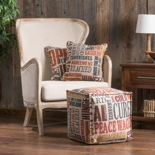 Christopher Knight Home Zayden Fabric Cube Pouf Ottoman