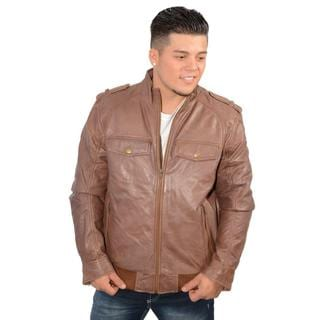 Brown Jumble Jacket with Antique Silver Zipper