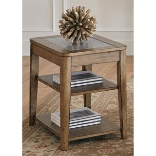 Weatherford Weathered Grey Chair Side Table