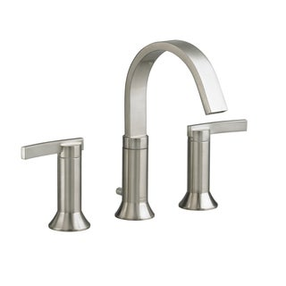 Amercian Standard Satin Nickel Berwick Widespread Bathroom Faucet with Metal Lever Handles