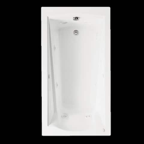 American Standard Evolution 60 Inch by 32 Inch Deep Soak EverClean Whirlpool with Apron 2425VC-RHO.020 White