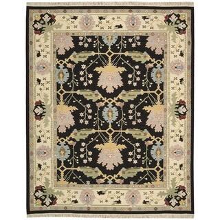Nourison Samarkand Black Rug (7'9 x 9'9)