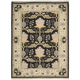 Nourison Samarkand Black Rug (8'6 x 11'6)