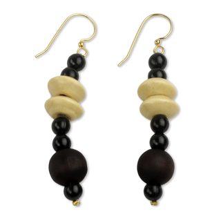 Handmade Sese Wood 'Muse' Earrings (Ghana)