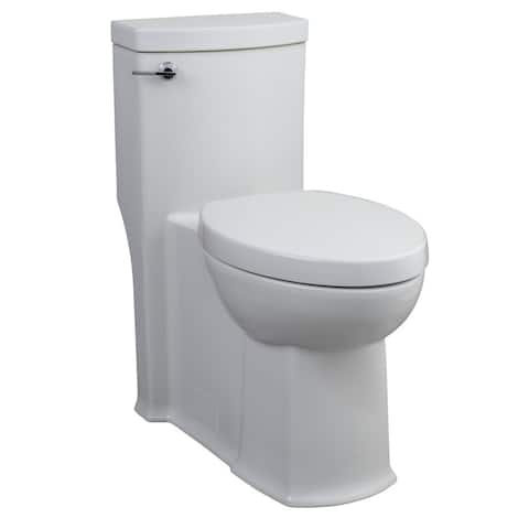 American Standard White FloWise Right Height Elongated 1-piece Toilet
