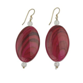 Handcrafted Brass 'Odopa in Rose' Earrings (Ghana)