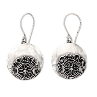 Sterling Silver 'Candidasa Beach Blossom' Earrings (Indonesia)