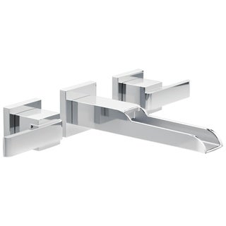 Delta Ara 2-handle Wall-Mount Lavatory Faucet with Channel Spout
