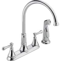 Delta Cassidy Two Handle Kitchen Faucet with Spray 2497LF Chrome