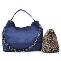 Dasein 2-in-1 Faux Leather Hobo with Organizer Bag