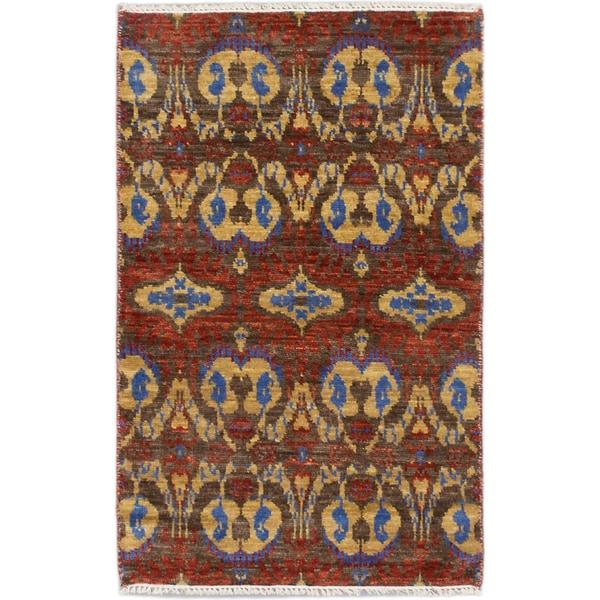 Ecarpetgallery Finest Ushak Red Wool Open Field Rectangular Rug
