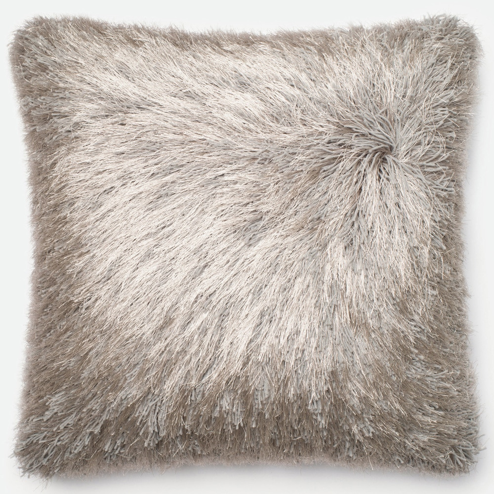 Shop Luxe Solid Shag 22-inch Throw Pillow or Pillow Cover - 10585916