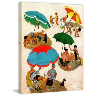 Marmont Hill - Couples at the Beach by George Hughes Painting Print on Canvas
