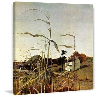 Andrew Wyeth 'Autumn Cornfield' Marmont Hill Painting Print on Canvas