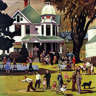 Marmont Hill - Family Reunion by John Falter Painting Print on Canvas