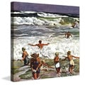 Marmont Hill - Surf Swimming by John Falter Painting Print on Canvas