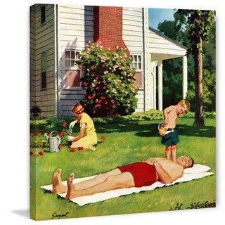 Marmont Hill - Watering Father by Richard Sargent Painting Print on Canvas