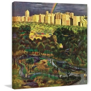 Marmont Hill - Central Park Rainbow by John Falter Painting Print on Canvas
