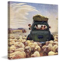 Marmont Hill - Oregon or Bust by John Clymer Painting Print on Canvas - Multi-color