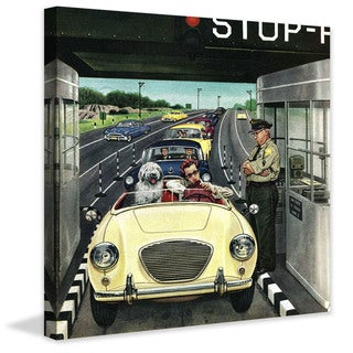 Marmont Hill - Stop and Pay Toll by Stevan Dohanos Painting Print on Canvas