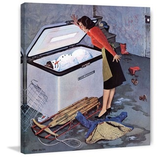Marmont Hill - Frosty in the Freezer by John Falter Painting Print on Canvas